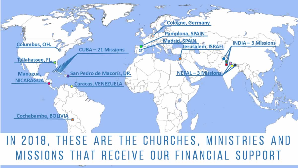 Missions Financial Support Map